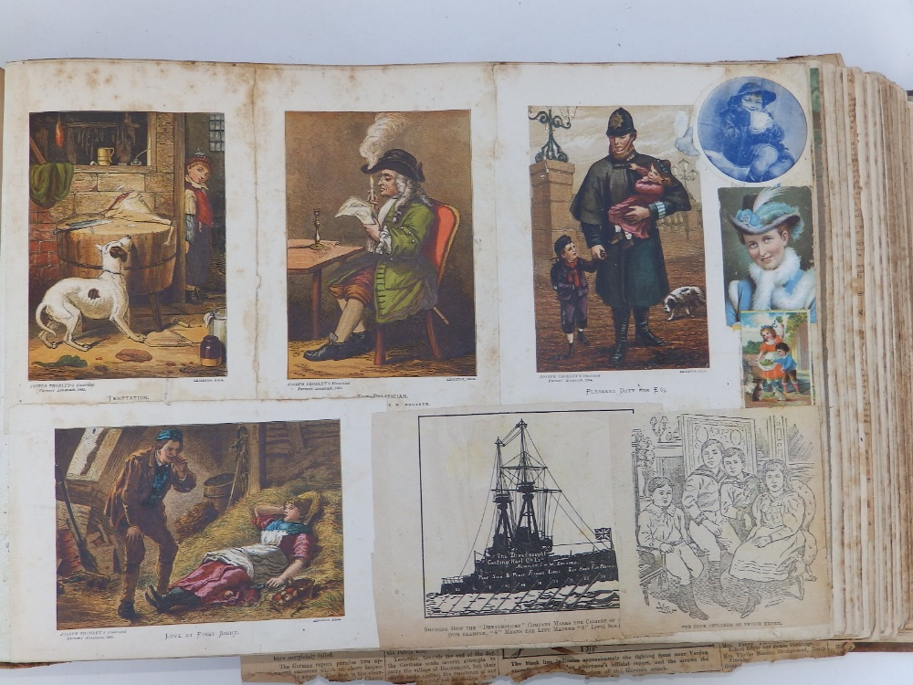 A large scrap album - 'Spring and Summer 1908' and contents. - Image 6 of 17
