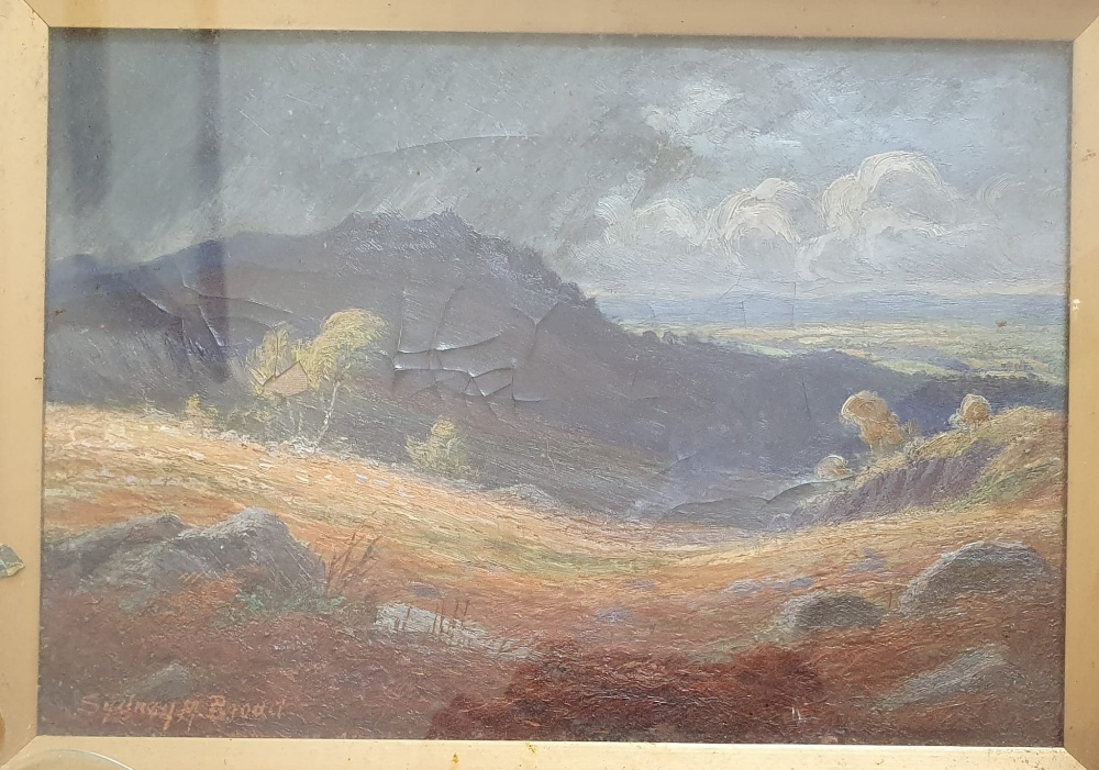"""Sydney M Broad - a pair of oils on board - Rural scenes, 9.5"""" x 13.5"""" - one a/f. (2) - Image 2 of 4"""