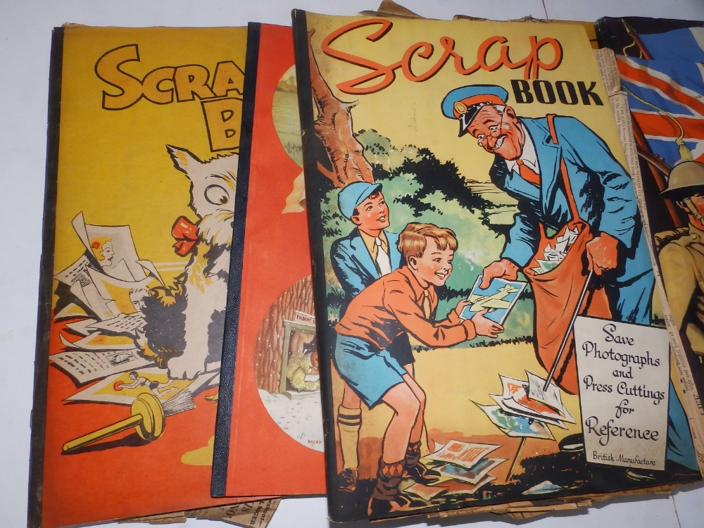 Five WWII period scrapbooks with colour printed covers - 'Save Photographs and Press Cuttings for - Image 2 of 8