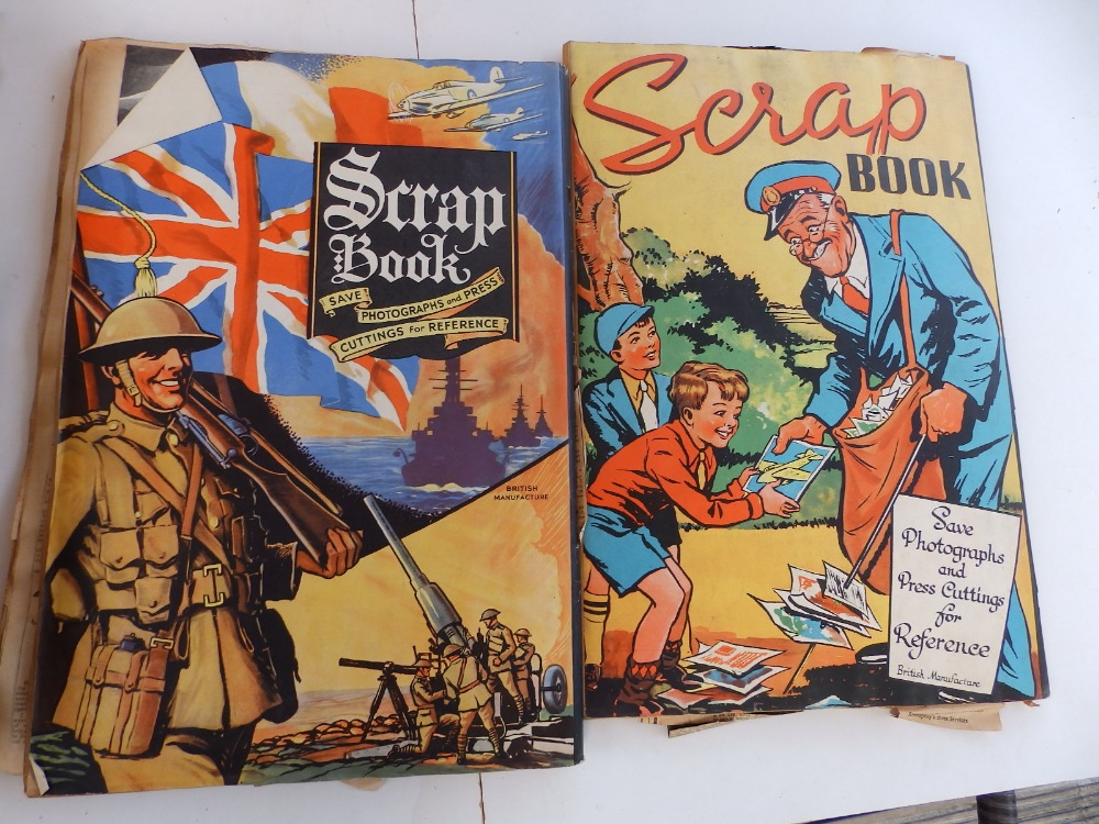 Five WWII period scrapbooks with colour printed covers - 'Save Photographs and Press Cuttings for - Image 8 of 8