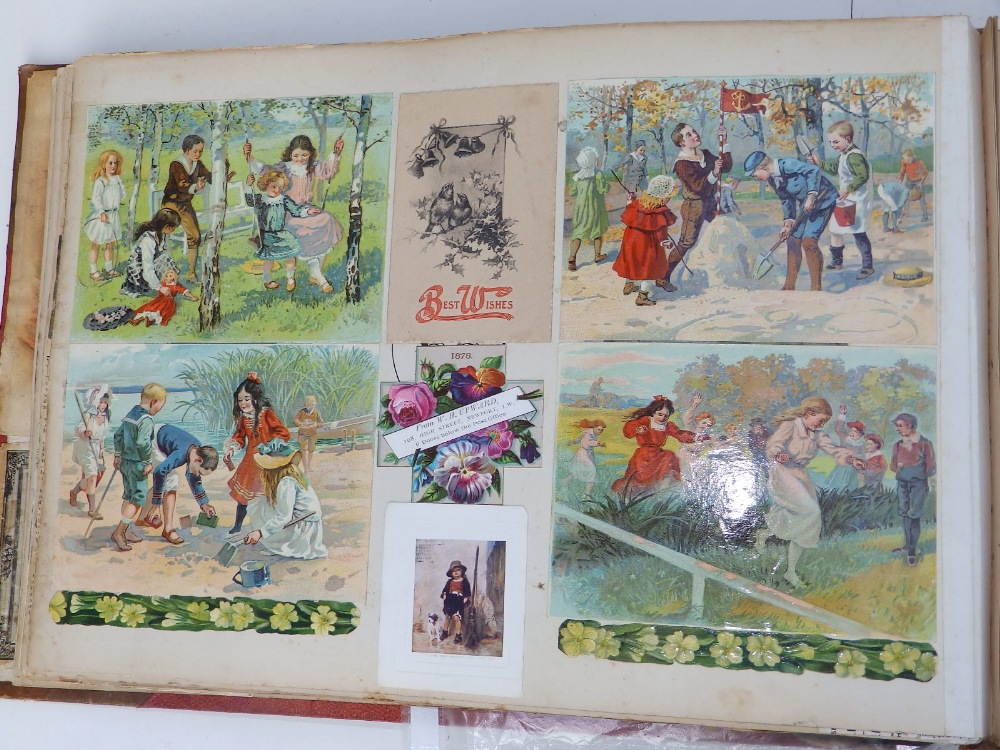 A large scrap album - 'Spring and Summer 1908' and contents. - Image 5 of 17