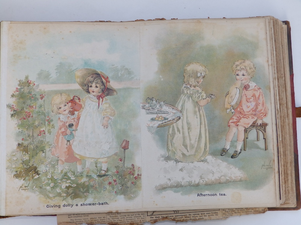 A large scrap album - 'Spring and Summer 1908' and contents. - Image 10 of 17