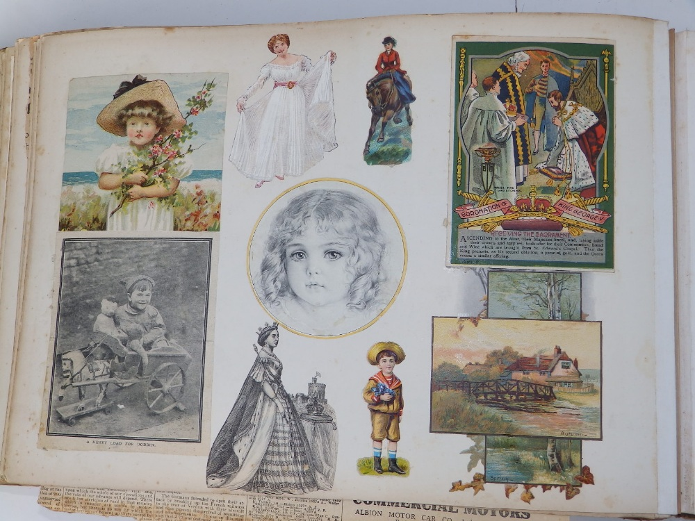 A large scrap album - 'Spring and Summer 1908' and contents. - Image 15 of 17