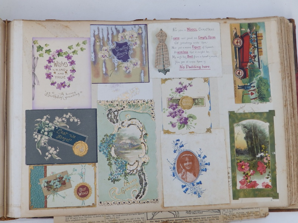 A large scrap album - 'Spring and Summer 1908' and contents. - Image 12 of 17