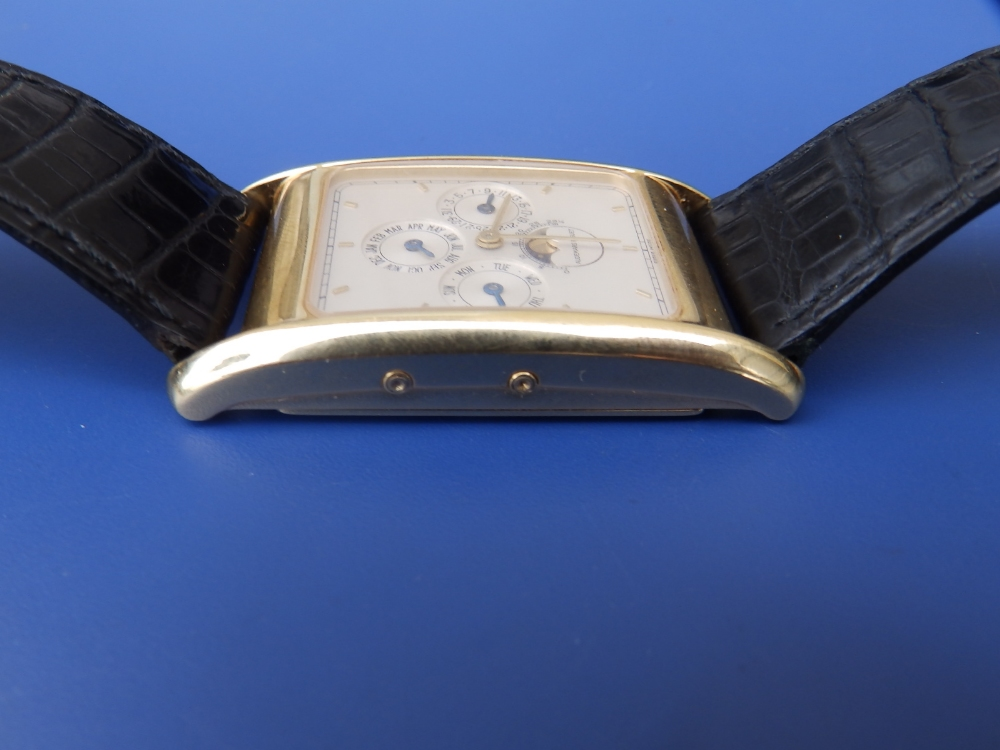 A gent's 18ct gold Audemars Piguet Perpetual Calendar wrist watch with moonphase, the white - Image 4 of 12