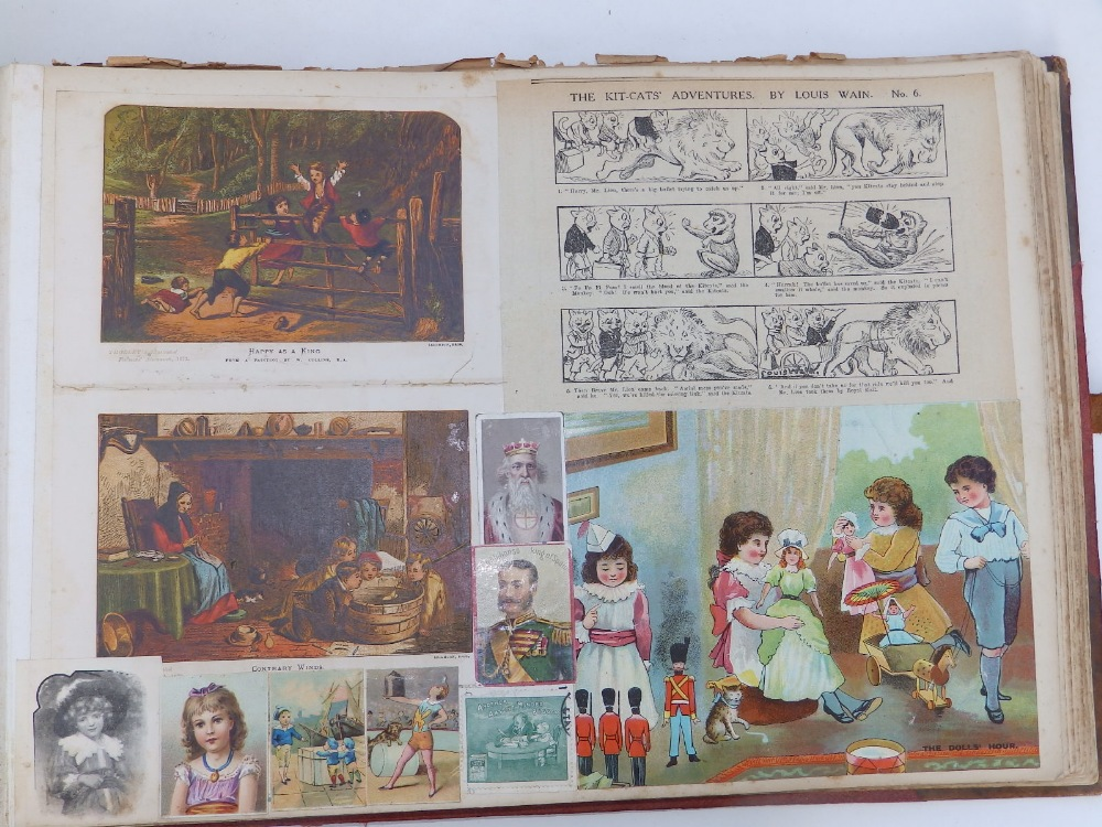 A large scrap album - 'Spring and Summer 1908' and contents. - Image 14 of 17