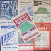 NEWCASTLE HOME & AWAY PROGRAMMES 1954-55 X 7