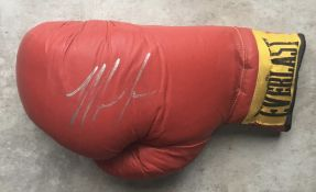 BOXING - MIKE TYSON HAND SIGNED BOXING GLOVE
