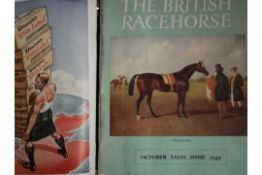 HORSE RACING - THE BRITISH RACEHORSE MAGAZINE 1949 IN BINDER