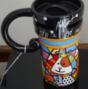 FORMULA 1 - FELIPE NASR HAND SIGNED ROMERO BRITTO COMMEMORATIVE COFFEE MUG - 2015 RUSSIAN GRAND PRIX
