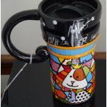 FORMULA 1 - FELIPE NASR HAND SIGNED ROMERO BRITTO COMMEMORATIVE COFFEE MUG - 2015 RUSSIAN GRAND PRIX