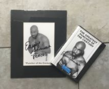 BOXING - EARNIE SHAVERS HAND SIGNED DVD CASE AND MOUNTED PHOTO COMES WITH COA