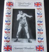 BOXING - DAVE CROWLEY TESTIMONIAL BROCHURE SIGNED BY HENRY COOPER, JOHN CONTEH & OTHERS