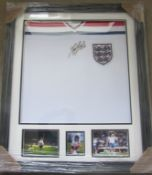 KEVIN KEEGAN HAND SIGNED FRAMED ENGLAND SHIRT