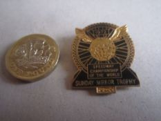 SPEEDWAY - WORLD FINAL 1972 GILT BADGE