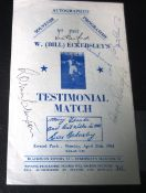 1961 BLACKBURN V ECKERLEYS XI - AUTOGRAPHED BY BOBBY CHARLTON, JIMMY ARMFIELD, TOM FINNEY ETC