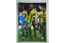 WEST BROMWICH ALBION - KYLE EDWARDS SIGNED PHOTO