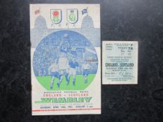 1951 ENGLAND V SCOTLAND - PROGRAMME & TICKET