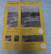 TORQUAY UNITED 1950'S HOME PROGRAMMES X 5