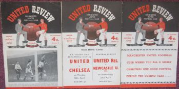 MANCHESTER UNITED HOMES 1953-54 & 1954-55 X 3