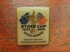 GOLF - 2010 RYDER CUP CELTIC MANOR BADGE