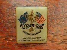 GOLF - 2010 RYDER CUP CELTIC MANOR BADGE