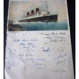 1951 CELTIC SIGNED MENU
