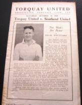 1948-49 TORQUAY UNITED V SOUTHEND UNITED