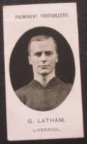 LIVERPOOL TADDY CIGARETTE CARD - G. LATHAM