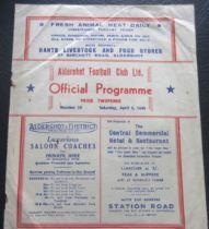 1948-49 ALDERSHOT V TORQUAY UNITED
