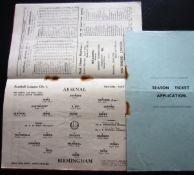 1937-38 ARSENAL V BIRMINGHAM