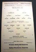 1957-58 PRESTON V NEWCASTLE UNITED