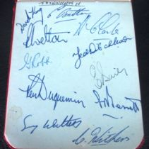 TOTTENHAM - VINTAGE AUTOGRAPH BOOK PAGE FROM 1953-544