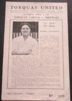 1948-49 TORQUAY V MILLWALL