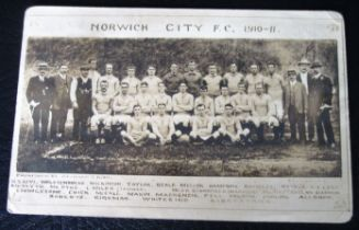 NORWICH CITY POSTCARD 1910-11