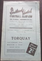 1948-49 SOUTHEND UNITED V TORQUAY UNITED