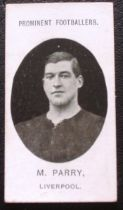 LIVERPOOL TADDY CIGARETTE CARD - M. PARRY