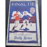 1927 FA CUP FINAL PROGRAMME ARSENAL V CARDIFF CITY