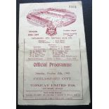 1948-49 CHELMSFORD CITY V TORQUAY UNITED RESERVES
