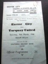 1945-46 EXETER V TORQUAY 3RD DIV SOUTH CUP