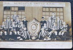 NEWCASTLE UNITED ORIGINAL 1906-07 POSTCARD