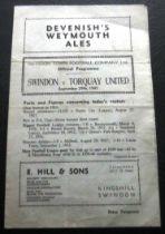 1945-46 SWINDON V TORQUAY