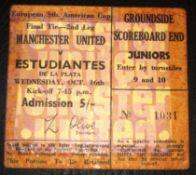 1969 MANCHESTER UNITED V ESTUDIANTES
