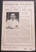 1948-49 TORQUAY UNITED V PORT VALE