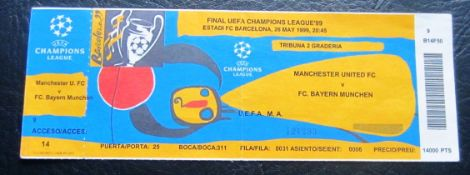 1999 CHAMPIONS LEAGUE FINAL MANCHESTER UNITED V BAYERN MUNICH UNUSED TICKET