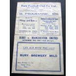 1944-45 BURY V MANCHESTER UNITED