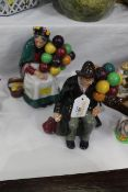 Two Royal Doulton figurines - The Balloon Man and The Balloon Seller