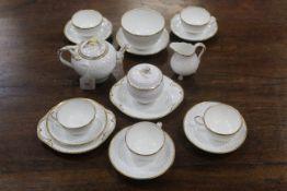 Early 20th century polka dot pattern part tea set
