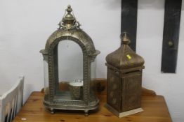 Two North African style lanterns,