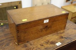 Late 19th/early 20th century oak writing slope